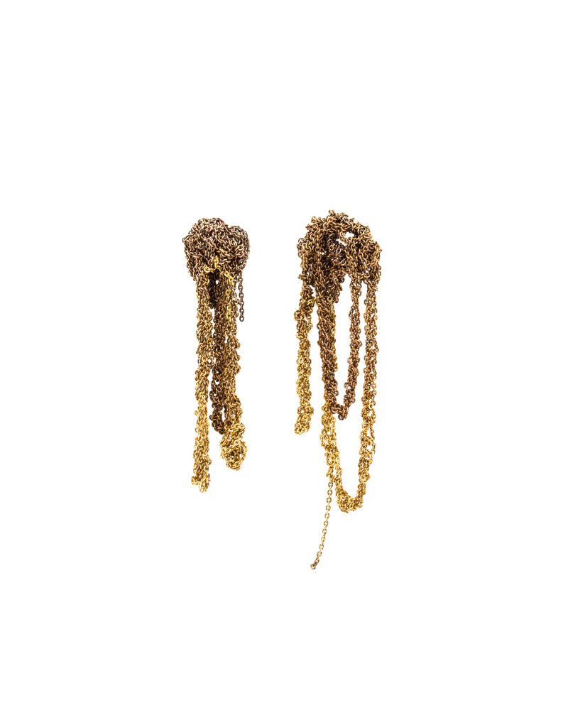 Extra Drip Earrings in Gold Gradient Color