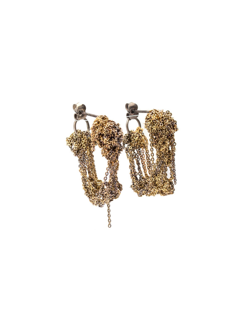 Cuff Earrings Burnt Gold Color in 18k Gold Vermeil