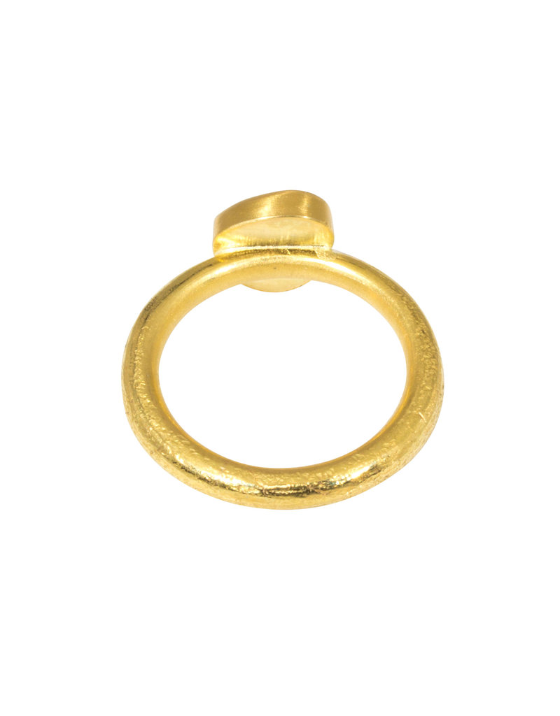 Salt and Pepper Diamond on 22k Gold Band Ancient Texture