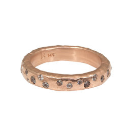 Celestial Ring in 14k Rose Gold with White and Lavender Sapphires