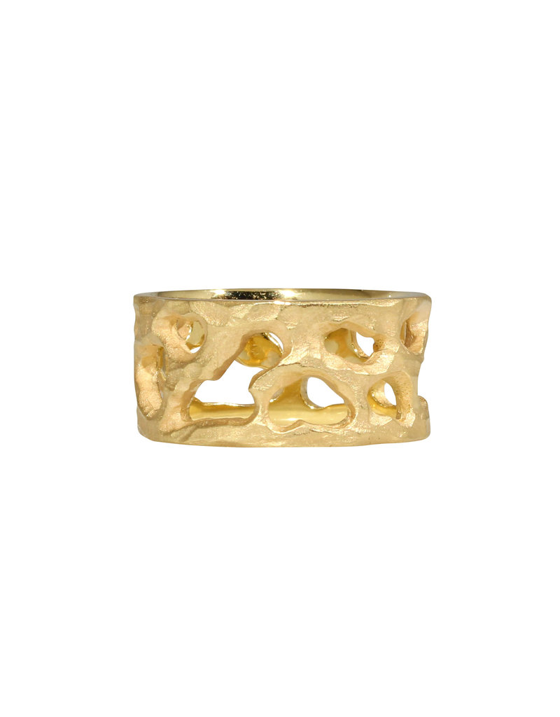 10mm Reef Ring in 18k Yellow Gold