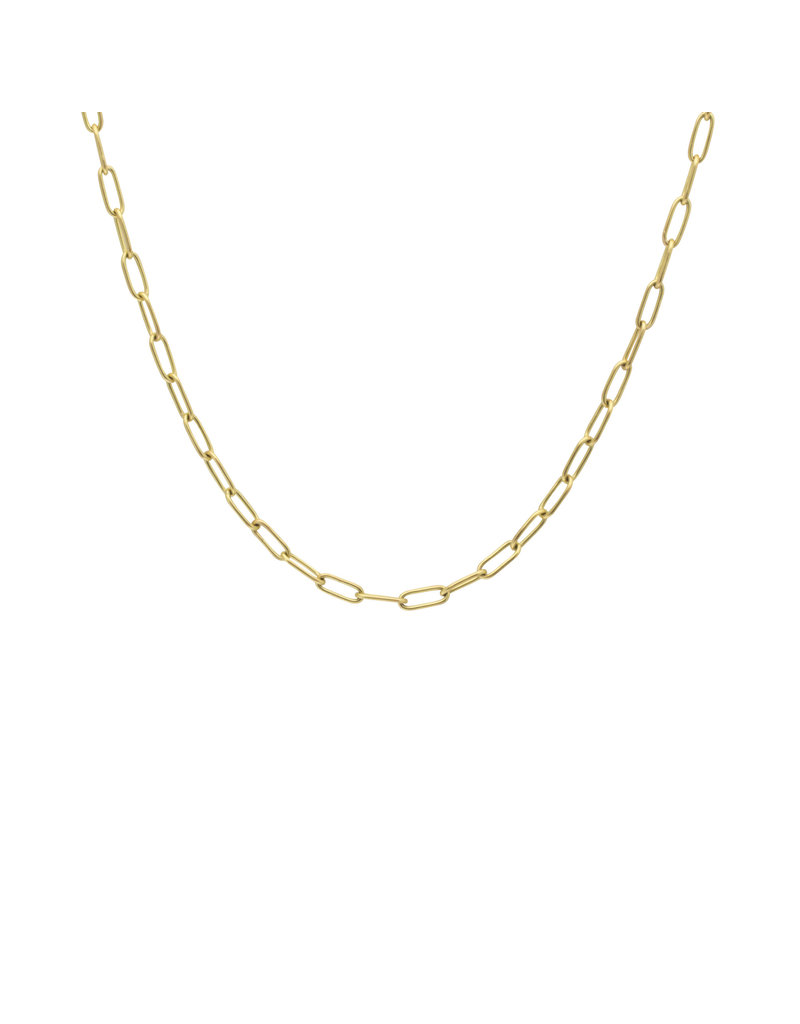 Oval Link Chain in 18k Yellow Gold 20.5 Gauge