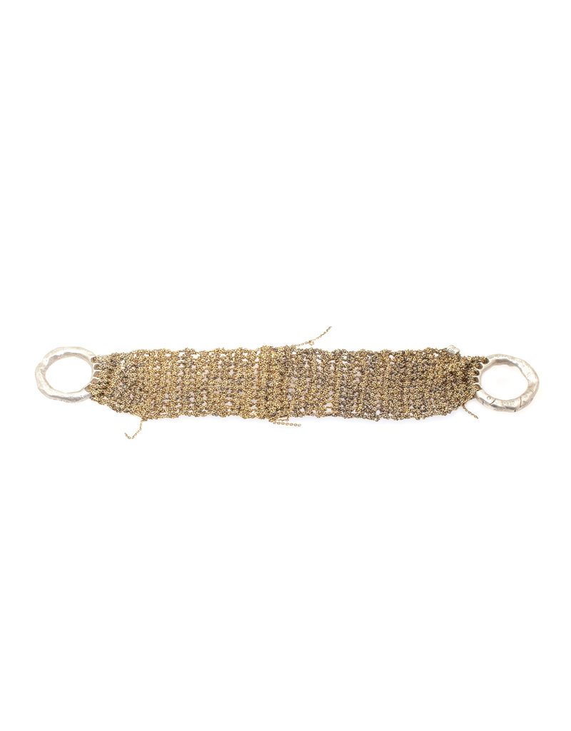 Thick Band Bracelet in 18k Oxidized Gold Vermeil