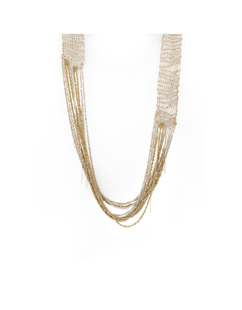 Broad Chain Necklace in Silver and 18k Gold Vermeil