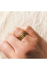 Eternity Band in 18k Yellow Gold with White Diamonds