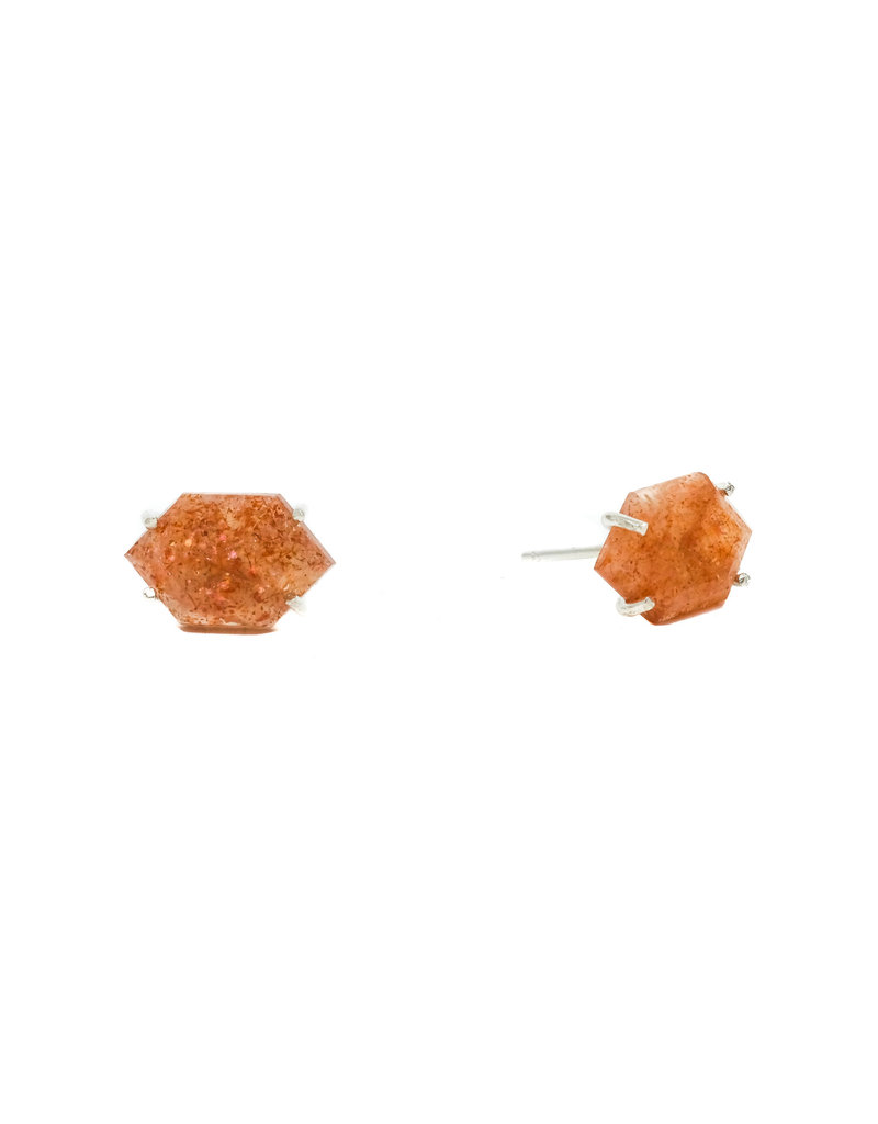 Trevi Pendro Sunstone Post Earring in Silver