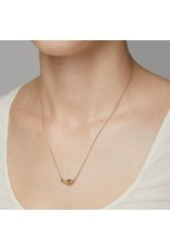 Champagne Diamond Necklace in 14k Yellow Gold