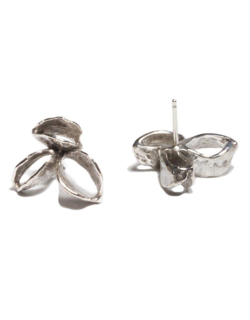 Banksia Earrings in Silver