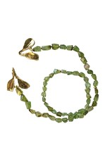 Tsavorite Garnet Necklace with Dyad Clasp in Yellow Bronze