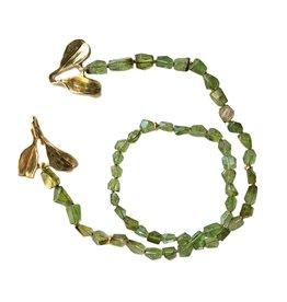 Tsavorite Garnet Necklace with Dyad Clasp in Yellow Bronze