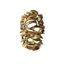 Banksia Cocktail Ring in Yellow Bronze