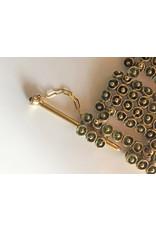 Mosaic Hinge Bracelet in Yellow Bronze