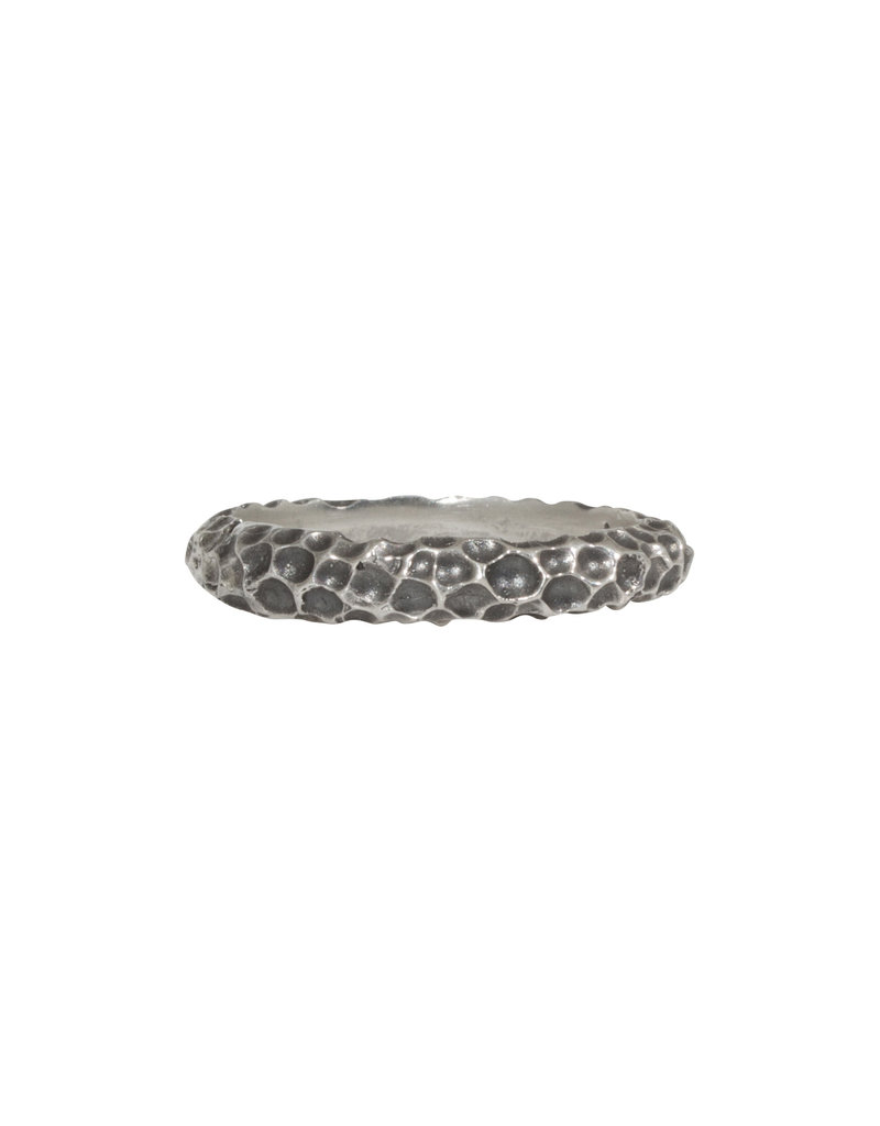 Hannah Alexandra Crater Ring in Oxidized Silver