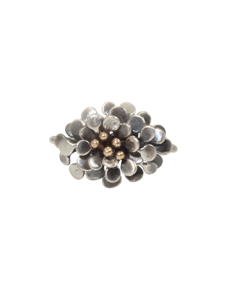 Hannah Alexandra Blum Ring in Oxidized Silver and 10k Gold