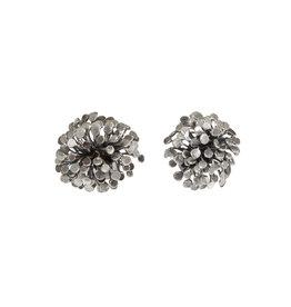 Hannah Alexandra Blum Post Earrings in Oxidized Silver