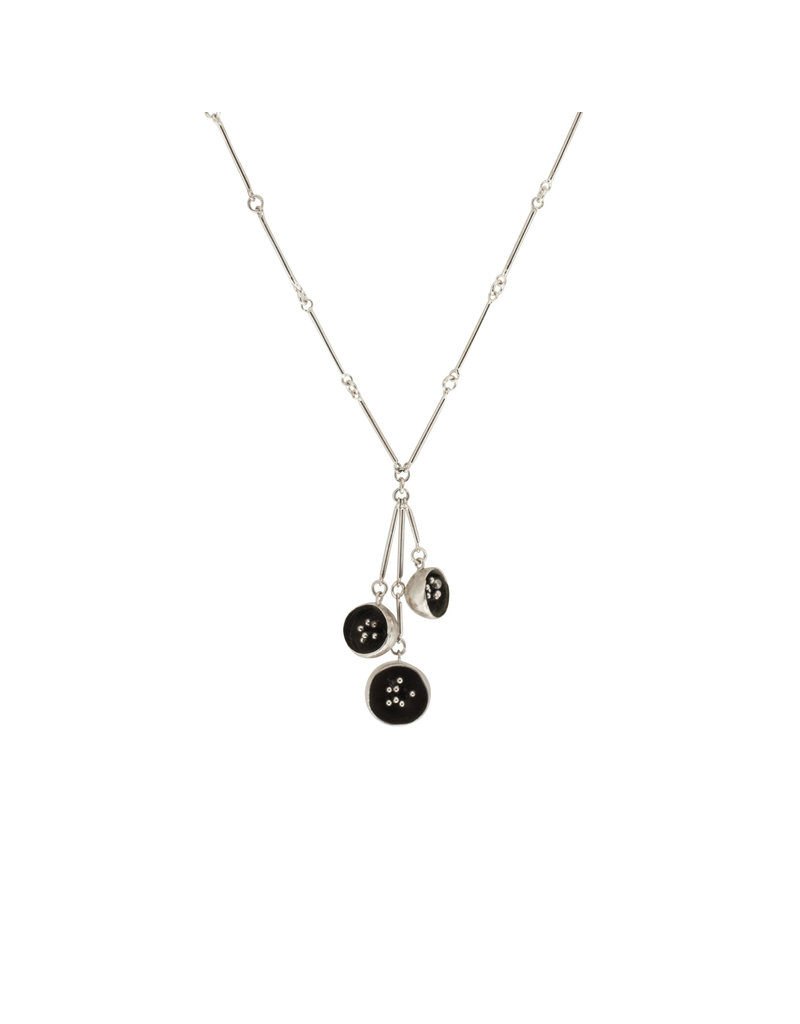 Hannah Alexandra Seabed Necklace in Brushed and Oxidized Silver
