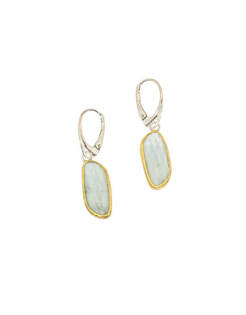 Sam Woehrmann Aquamarine Earrings in 22k Gold & Silver