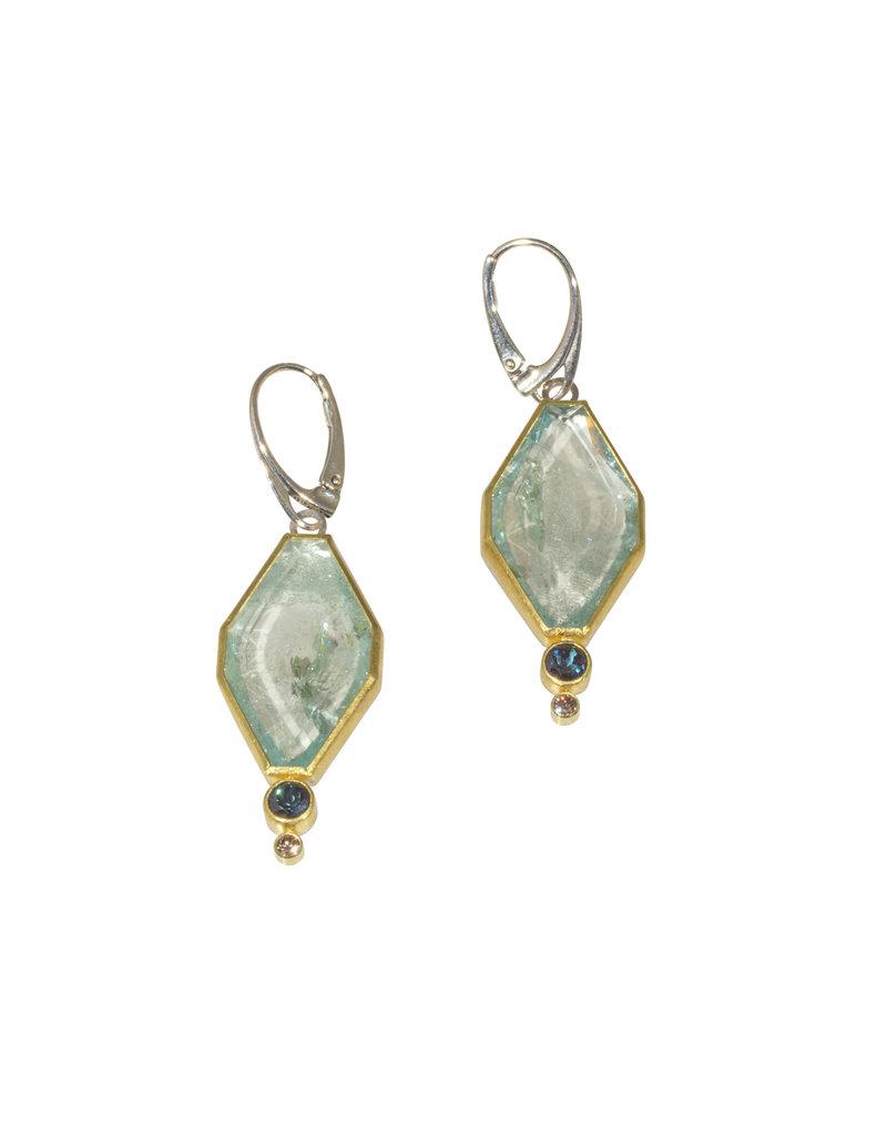 Sam Woehrmann Aquamarine, Blue Tourmaline & Diamond Earrings