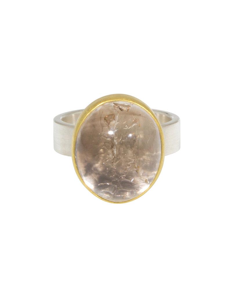 Sam Woehrmann Oval Enhydro Smoky Quartz Ring in 22k Gold & Silver