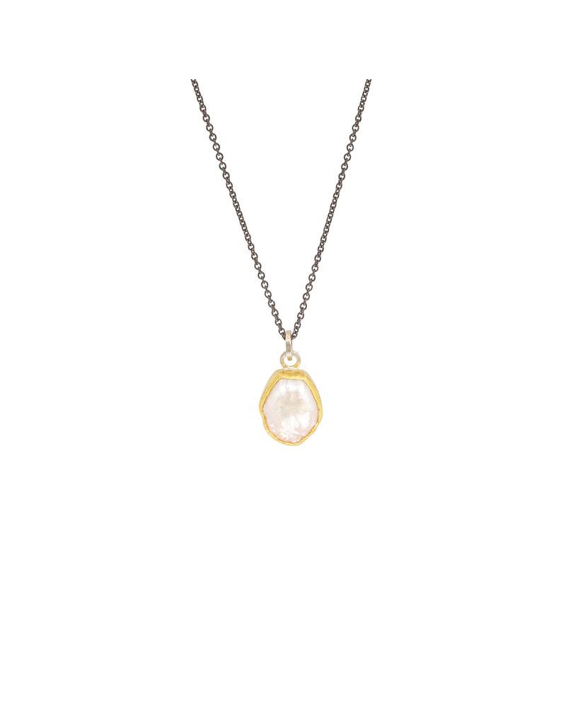 Sam Woehrmann Pearl Pendant in 22k Gold & Silver