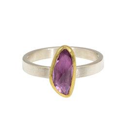 Sam Woehrmann Pink Sapphire Ring in 22k Gold & Silver