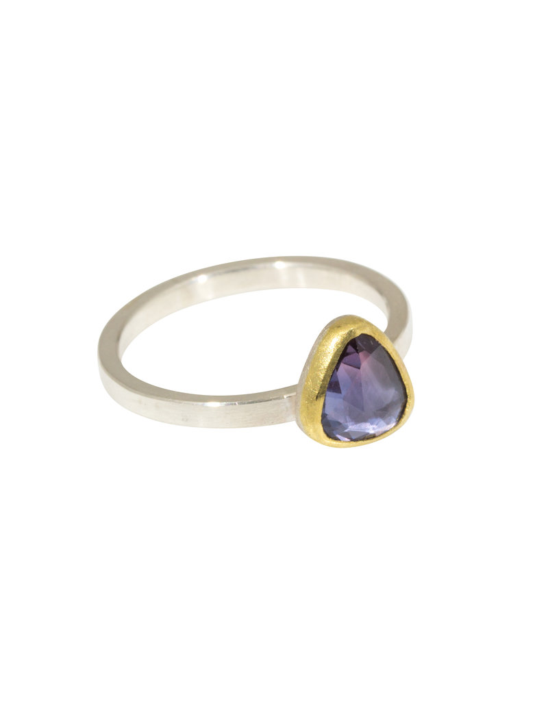Sam Woehrmann Purple Sapphire Ring in 22k Gold & Silver