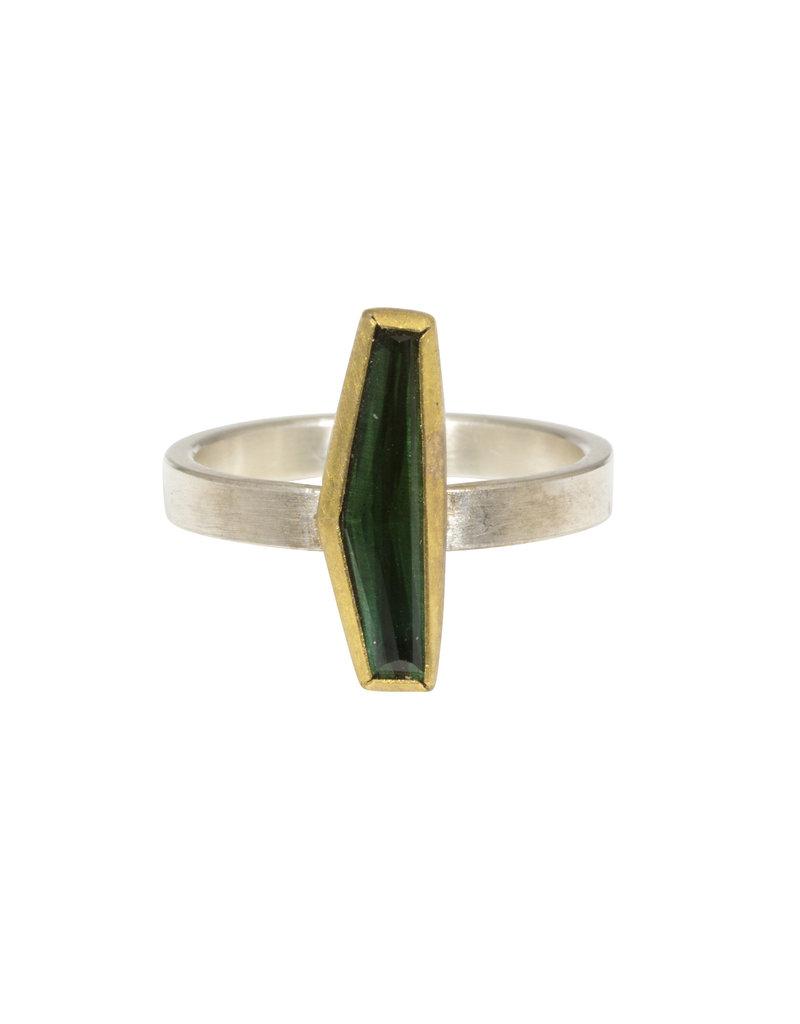 Sam Woehrmann Geometric Tourmaline Ring in 22k Gold & Silver