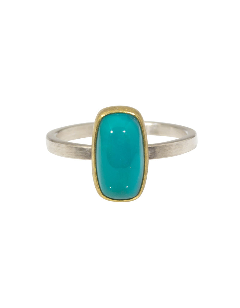 Sam Woehrmann Cushion Gem Silica Ring in 22k Gold & Silver