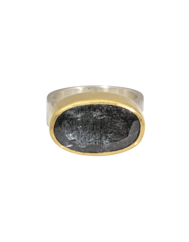 Sam Woehrmann Oval Tourmaline Ring in 22k Gold & Silver