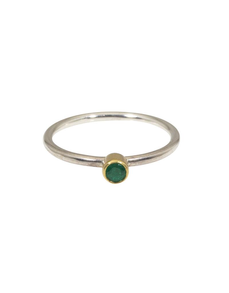 Sam Woehrmann Round Emerald Ring in 22k Gold & Silver