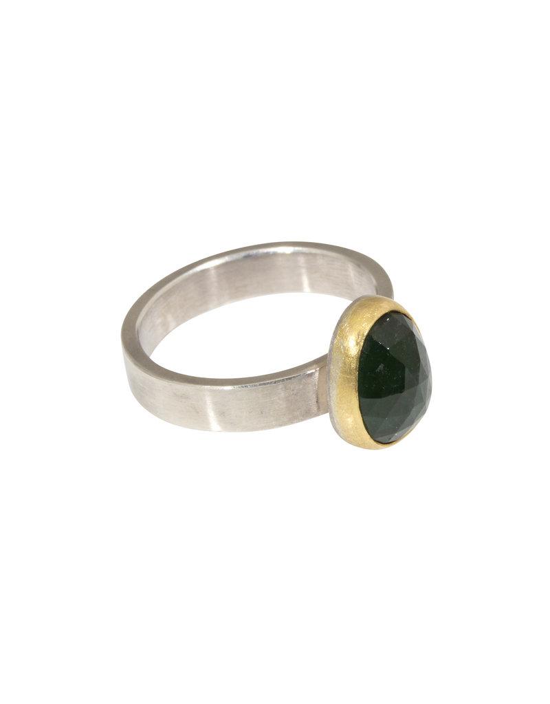 Sam Woehrmann Oval Tourmaline Ring in 22k Gold & Silver