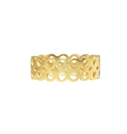 *Double Wide Circle Band in 18k Yellow Gold