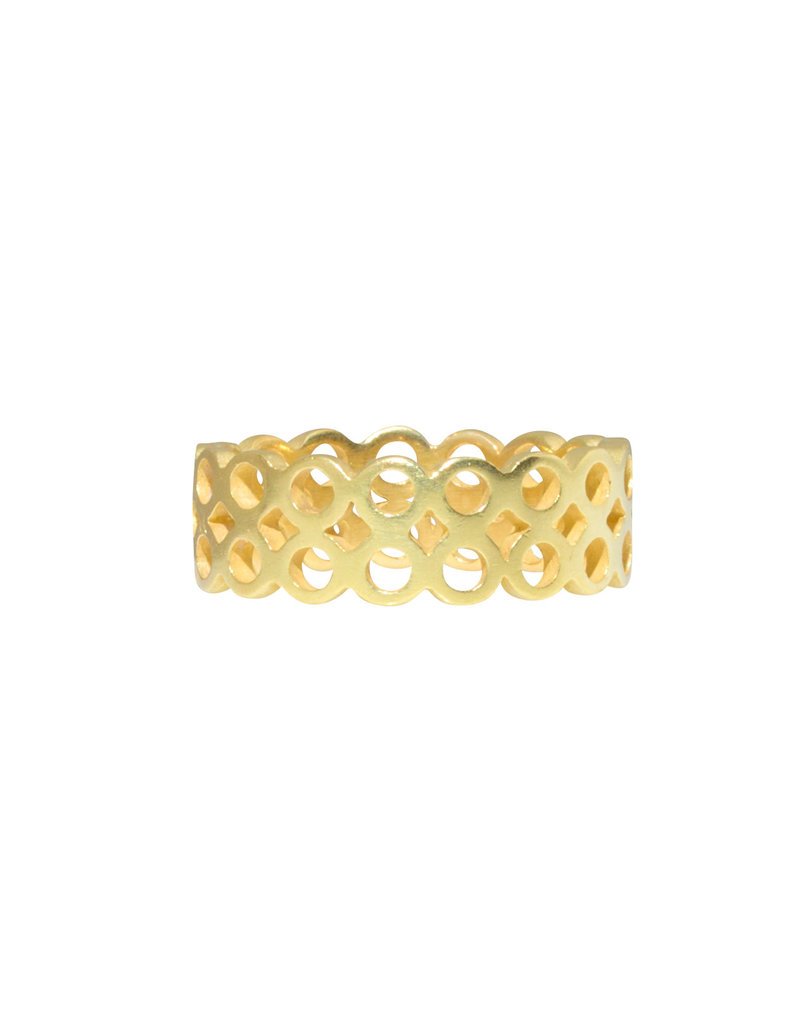Double Wide Circle Band in 18k Yellow Gold