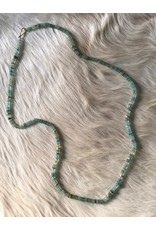 Ancient Roman Glass and 18k Gold Bead Necklace