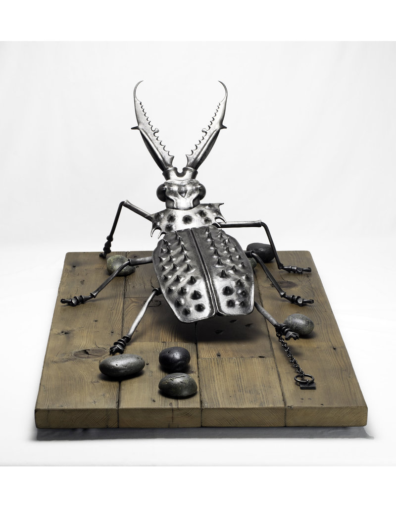 Leah Aripotch Stoning Sculpture in Steel