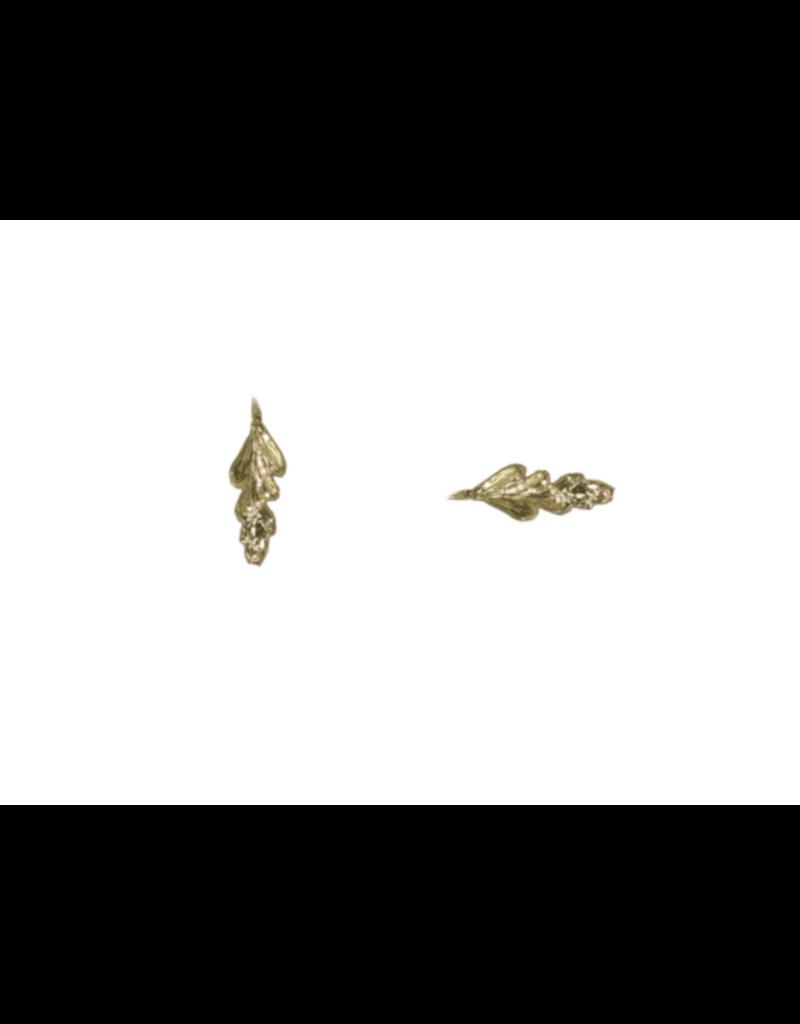 Alexis Pavlantos Fern Post Earrings in 14k Gold