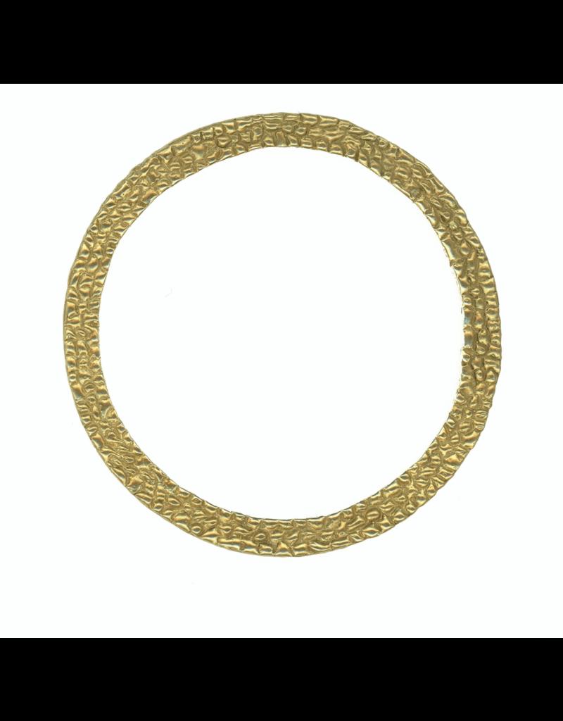 Alexis Pavlantos Ichos Snake Texture Bangle Bracelet in Brass