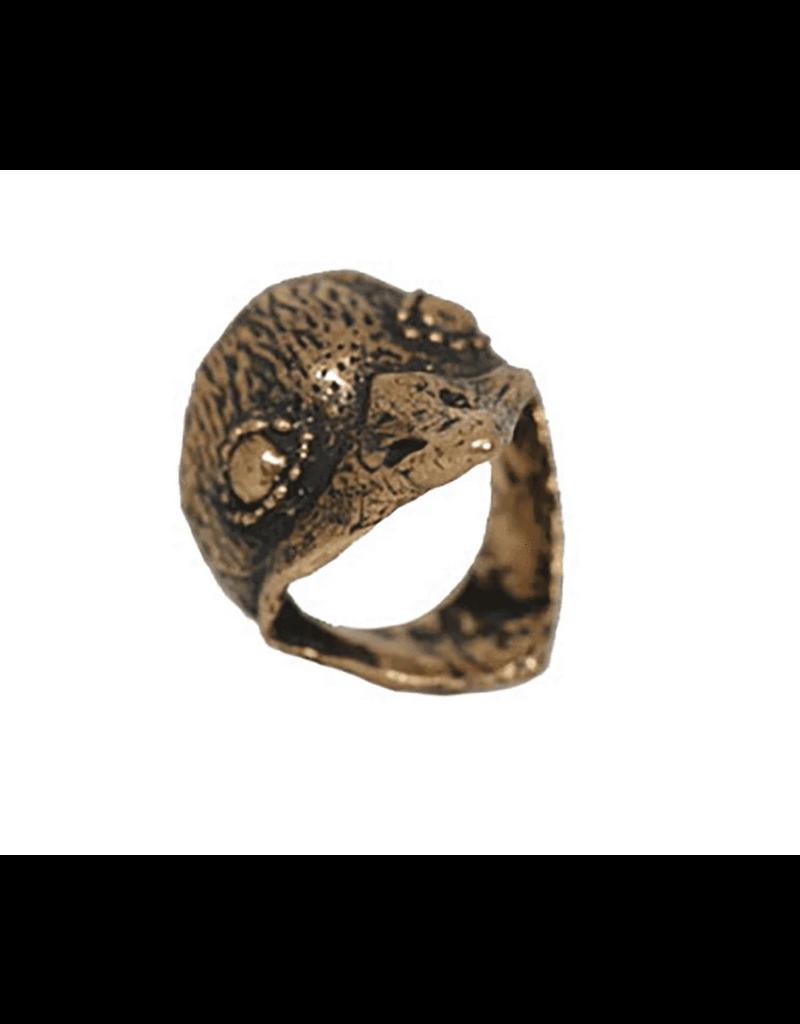 Alexis Pavlantos Bird Ring in Bronze