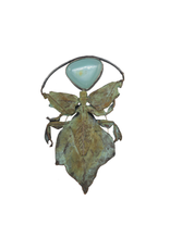 Alexis Pavlantos Phylliodea Brooch in Bronze