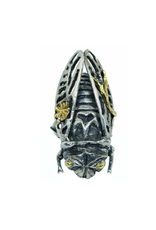 Alexis Pavlantos Cicada Ring in Silver with Patina
