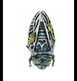 Alexis Pavlantos Cicada Ring in Silver with Patina