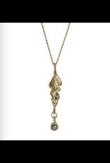 Alexis Pavlantos Fern Pendant in 14k Gold with Diamond