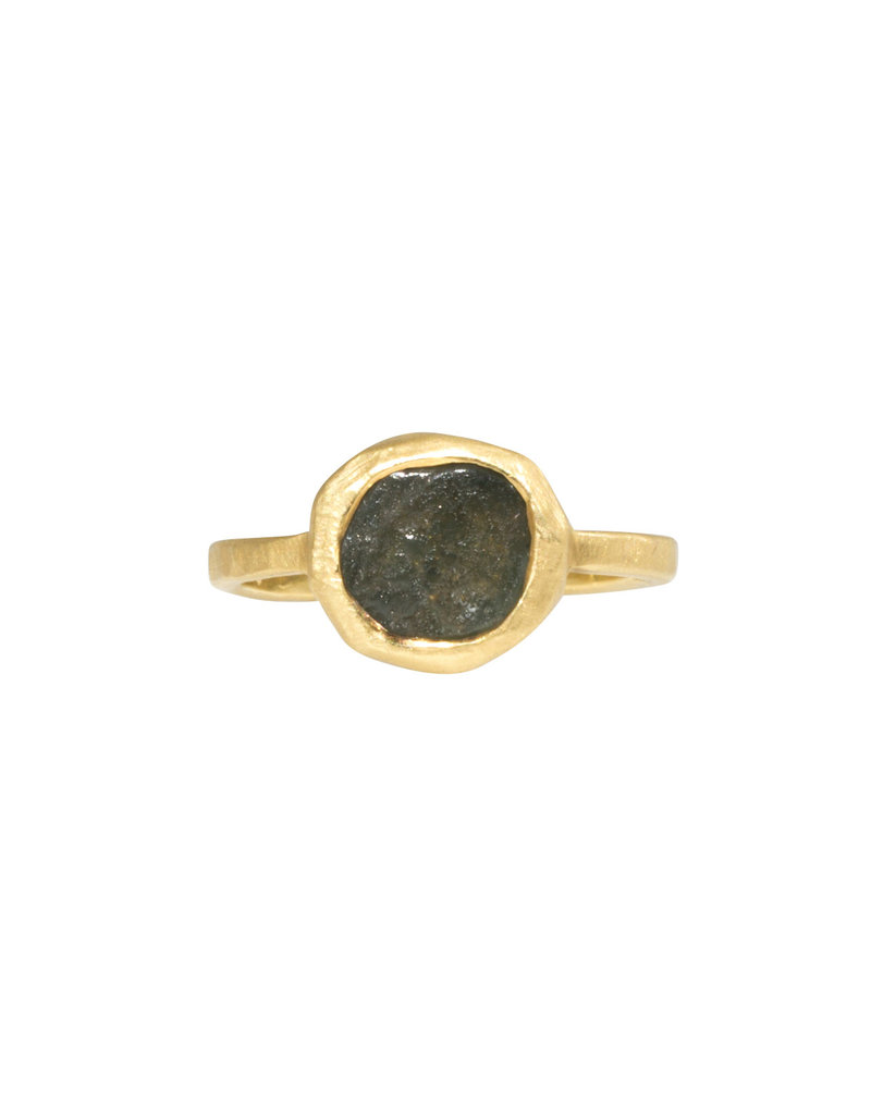 Green/Grey Sapphire Ring in 18k Gold