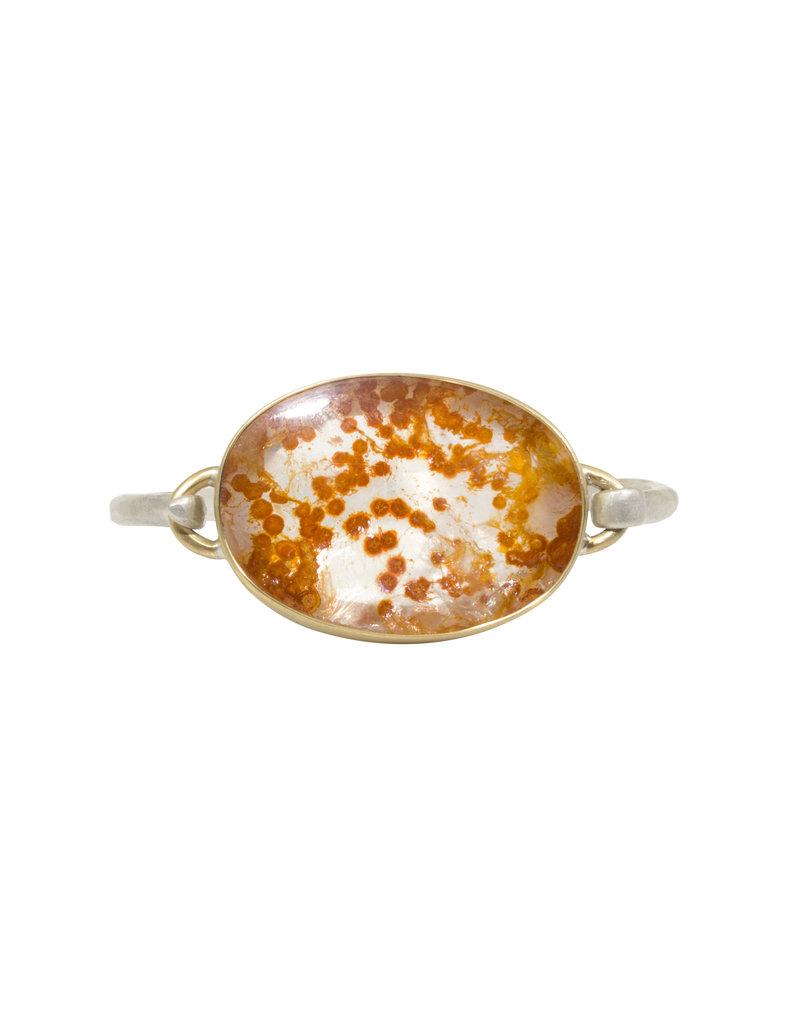 Mica in Quartz Bracelet in Silver and 18k Gold