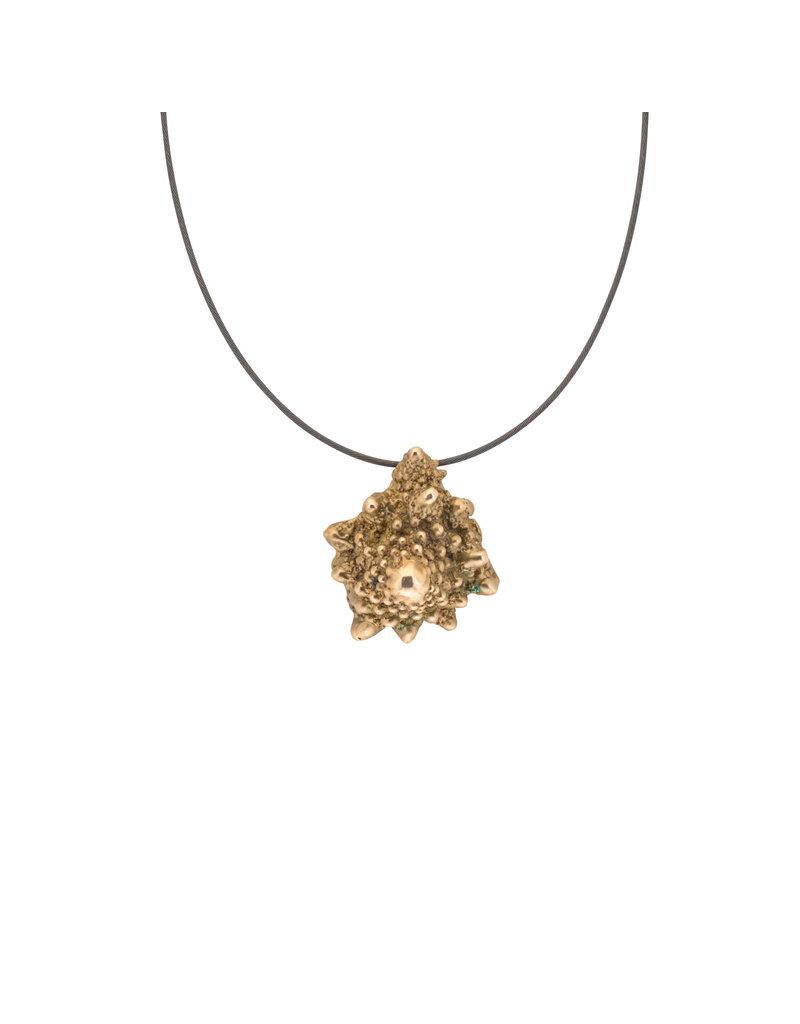 Romanesco Pendant Bronze on Oxidized Silver Cable