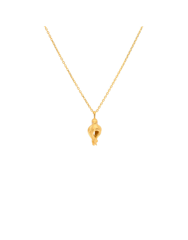 Manya & Roumen Baby Octopus Necklace in Gold
