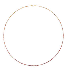 """Jonquil Ombre Sapphire Necklace with 18k Gold - 35"""""""