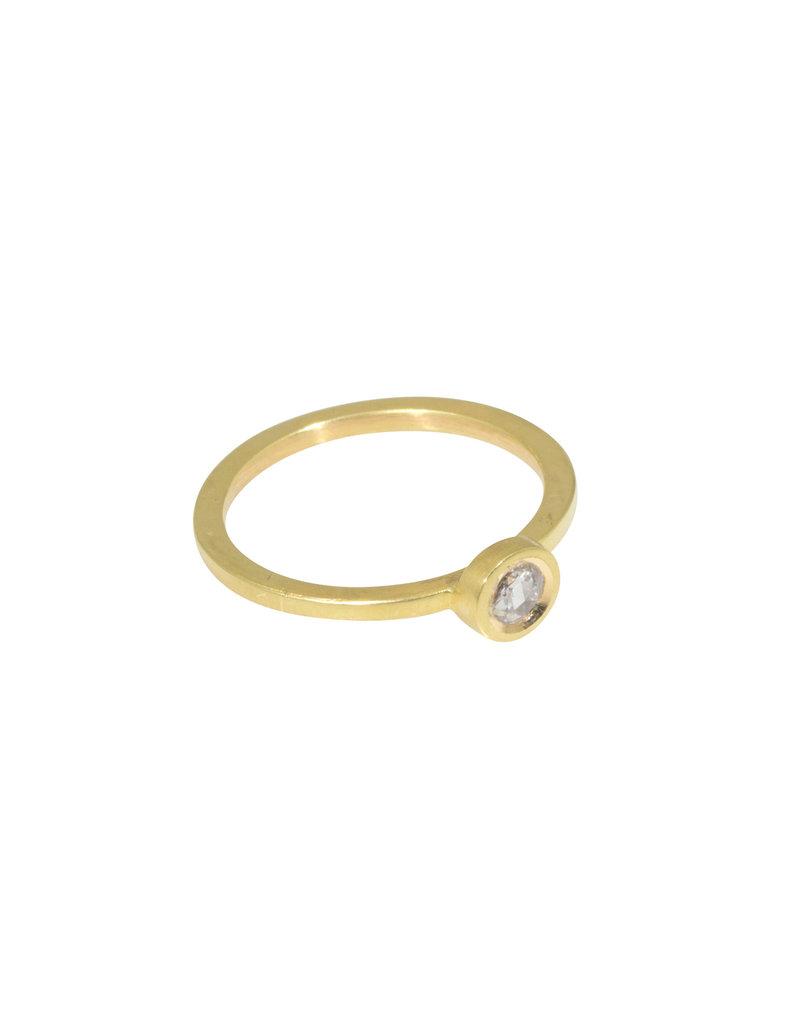 Rosecut Diamond Ring in 18k Yellow Gold