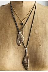 Mariposa Wing Pendant in Bronze with Three White Diamonds