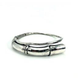 Kai Wolter Single Tendril Bangle Bracelet in Silver